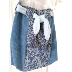 Casual Two-Tone Denim Sling...
